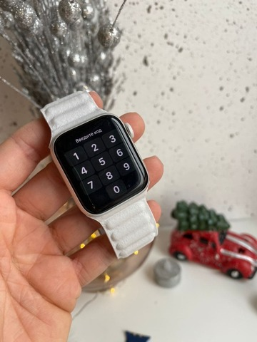 Ремешок Apple watch 42mm Leather Link /white/