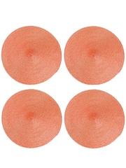 Термосалфетка круглая кухонная плейсмат Dutamel салфетка сервировочная плетеная оранжевая DTM-014 диаметр 30 см - 1 шт