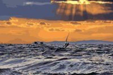 Алмазная Мозаика 40x50 Океан на закате