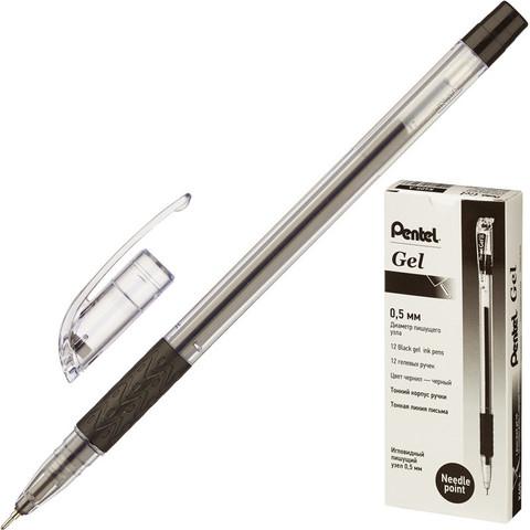 Ручка гелевая Pentel черная (толщина линии 0.25 мм)
