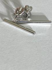 Палочка (пусеты из серебра)