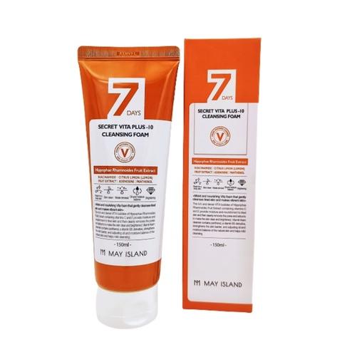Витаминизирующая пенка для умывания MAY ISLAND 7 Days Secret Vita Plus-10 Cleansing Foam