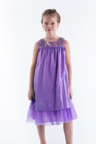 Нарядное платье для девочки (сиреневое)