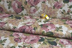 Ткань интерьерная, принт прованс 2