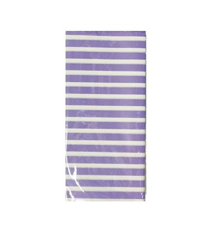Бумага тишью Полоска, 10 шт., 50x66 см, цвет: сиреневый
