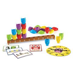 учимся считать с игрой Математический набор Веселые совята Learning Resources