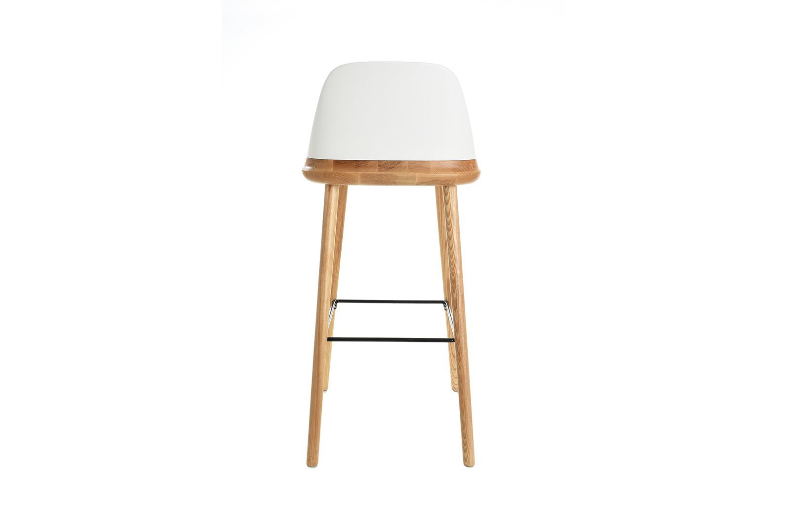 Барный стул ESF BS-S123A белый/бук