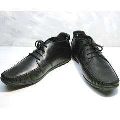 Мокасины мужские модные Ikoc 112-1Black