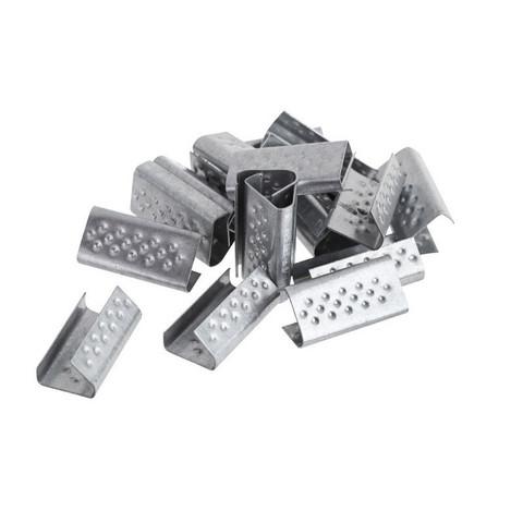 Скобы металлические для полипропиленовой стреппинг-ленты шириной 15 мм (1000 штук в упаковке)