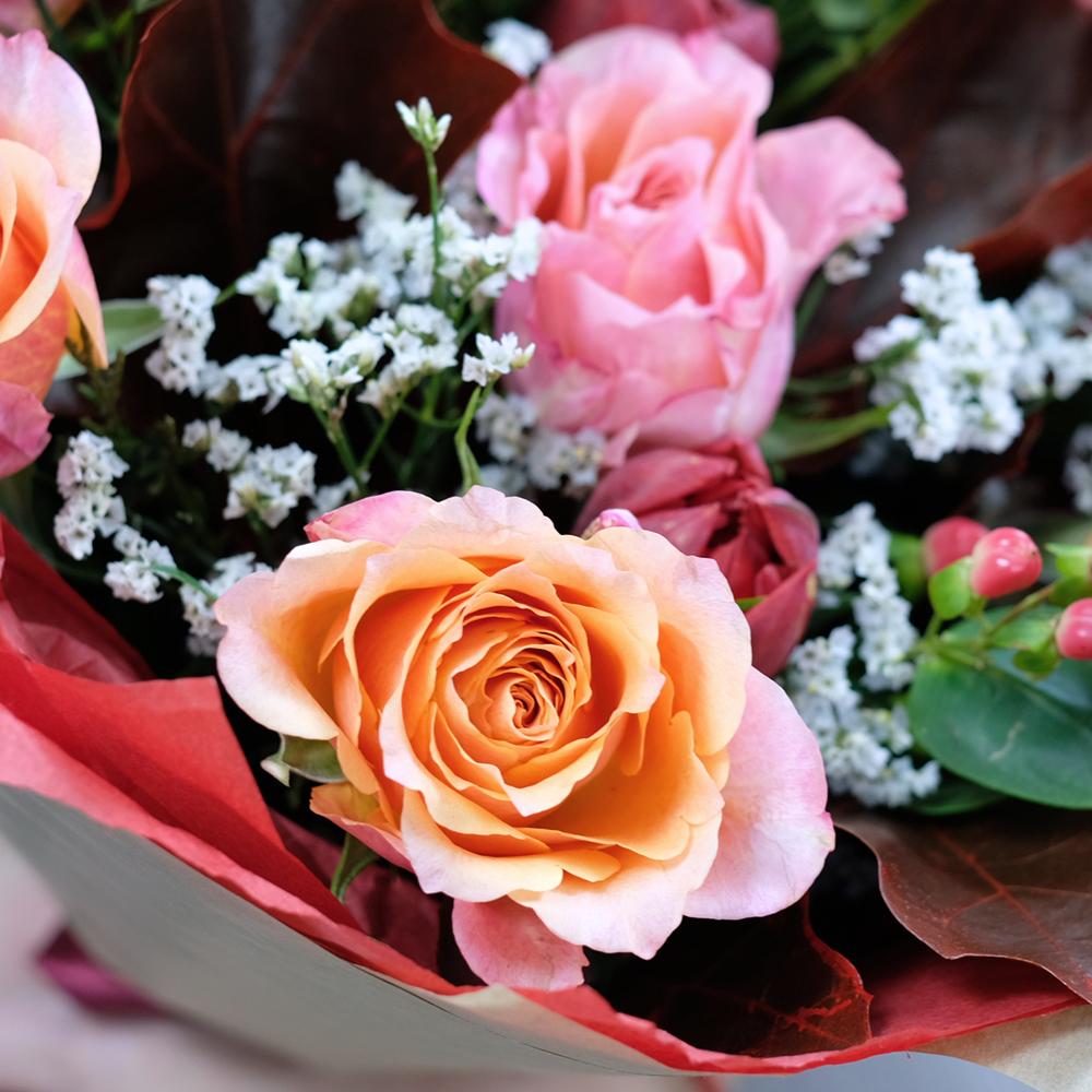 Букет осенний с тюльпанами