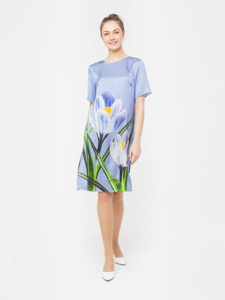 Платье З162-548 - Платье прямого силуэта, из шелковистой вискозы, с эксклюзивным авторским прином от S&S by S.Zotova. Проработанная, удобная модель, которая отлично садится по фигуре любого типа. Для тех кто любит в центре внимания!