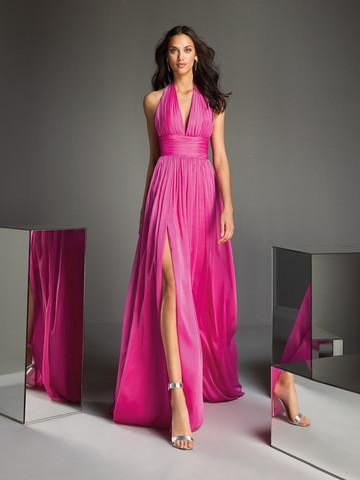 Вечернее платье классическое драпированное