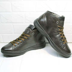 Утепленные кеды ботинки мужские демисезонные Ikoc 1770-5 B-Brown.