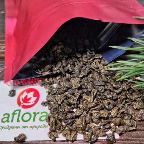 Фотография Чай зеленый китайский Ганпаудер / 100 гр купить в магазине Афлора