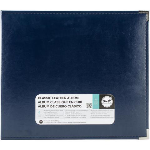 Альбом  на кольцах для Project Life Classic Leather D-Ring Album 30х30 от WeR - экокожа. Country Blue