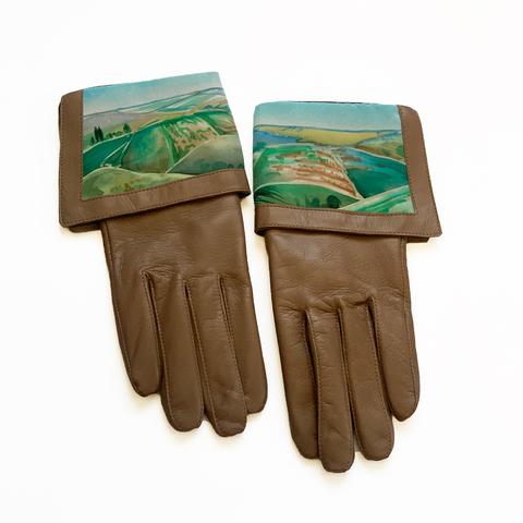 Кожаные перчатки Пейзаж
