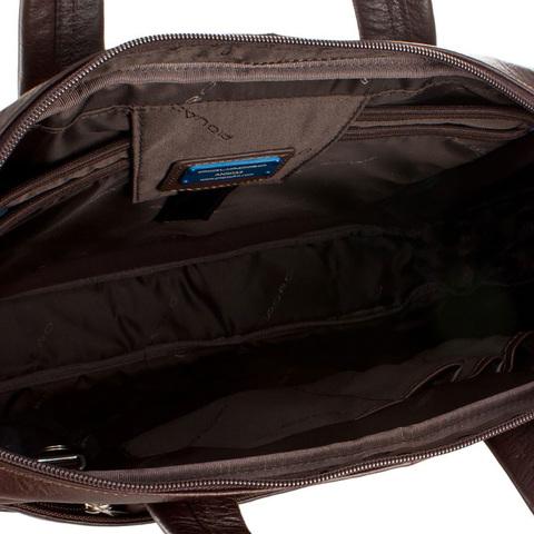 Сумка Piquadro Vibe, коричневая, 39x28,5x6 см