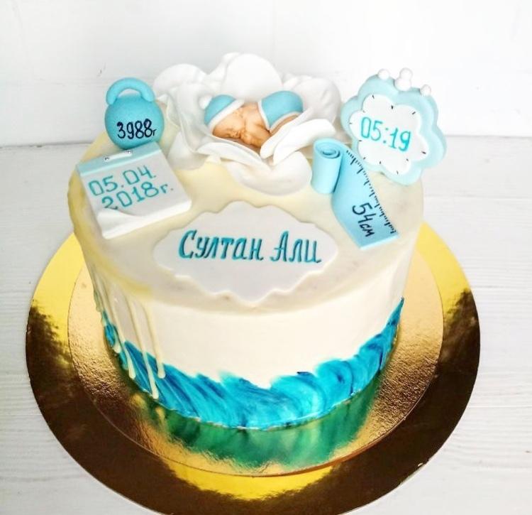 торт для новорожденного Алматы