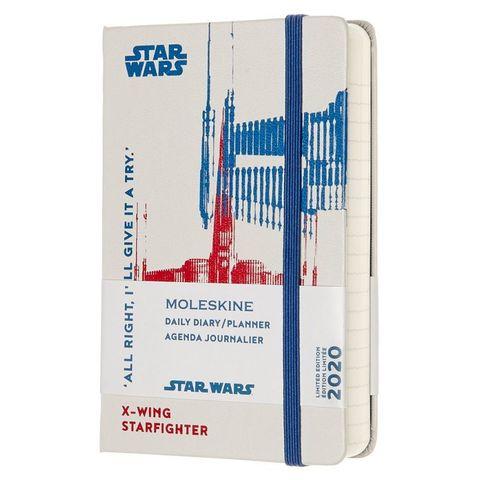 Ежедневник Moleskine STAR WARS LE 90x140мм 400стр. фиксирующая резинка белый Xwing
