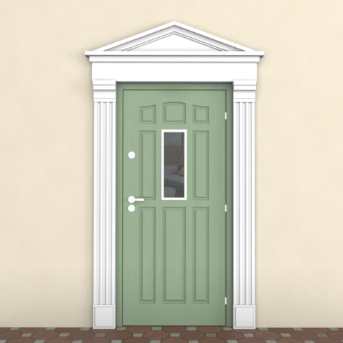 Обрамление дверного проёма наличником из пенопласта