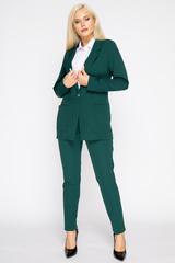 <p>Хит сезона! Деловой костюм модного кроя. Пиджак свободного силуэта. Рукав длинный. Функциональные карманы. Без подклада. Брюки на резинке. (Длины: пиджак/брюки 46-72/96см; 48-73/97см; 50-74/98см; 52-76/100см)&nbsp;</p>