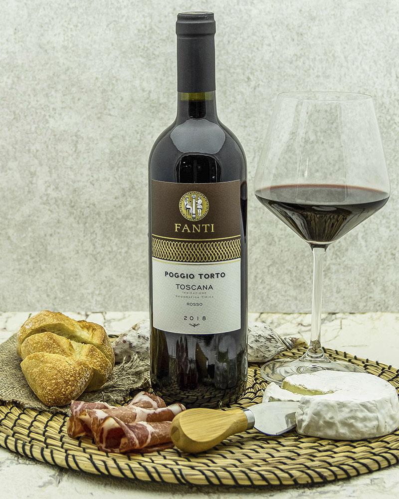 Вино Fanti Поджо Торто Тоскана Россо Красное Сухое 2018 г.у. 13,5% 0,75 л.