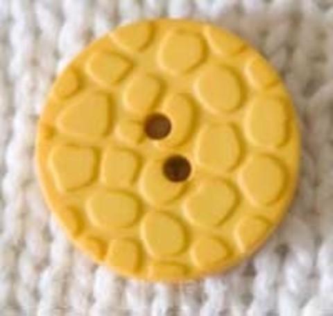 Пуговица с пупырышками, тёплого жёлтого цвета