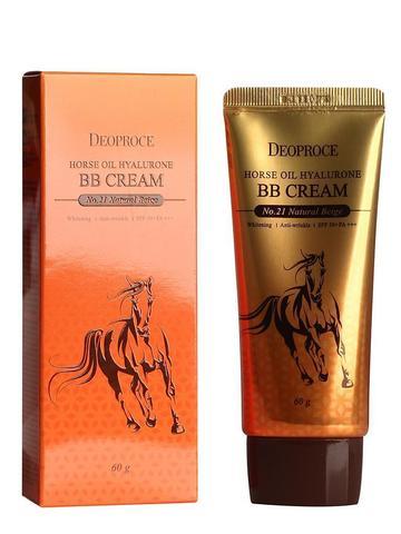 DEOPROCE Horse Крем ББ с гиалуроновой кислотой и лошадиным жиром DEOPROCE HORSE OIL HYALURONE BB cream #21 60g