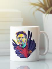 Кружка с изображением Лионель Месси (Lionel Messi) белая 001