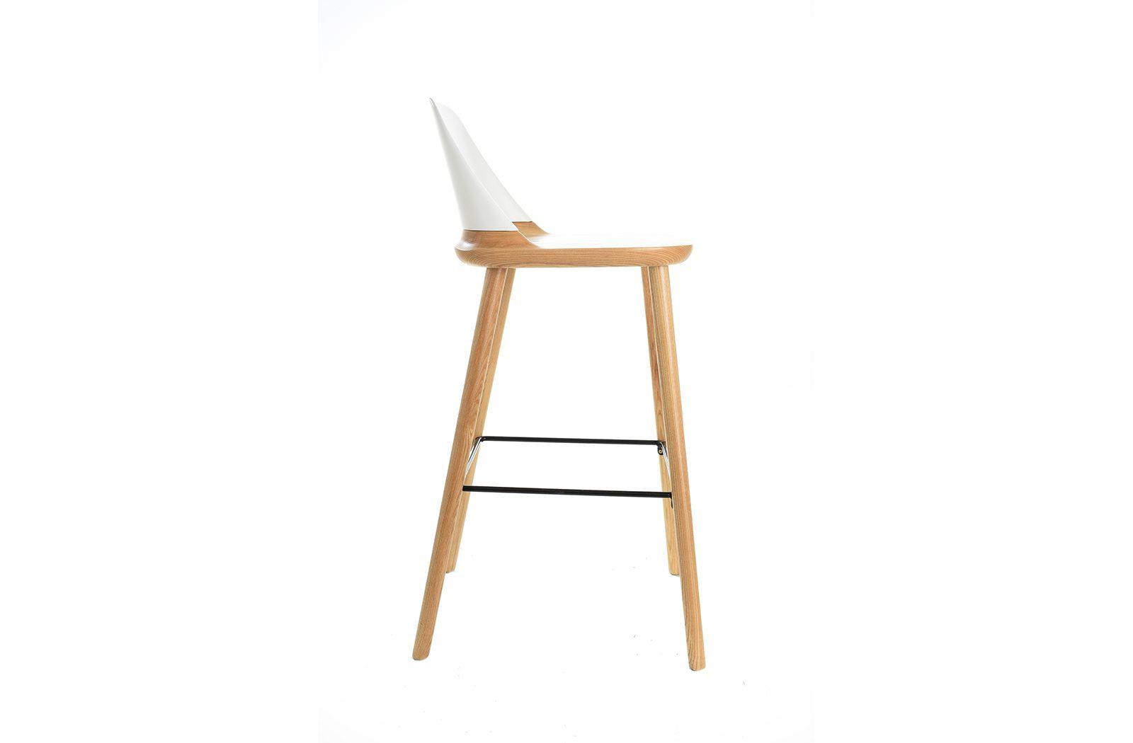 Барный стул ESF BS-S123A белый/дерево