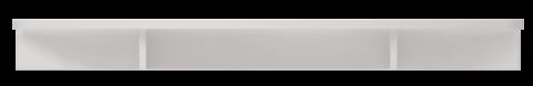 Полка приставная Виктория 11 Ижмебель белый глянец