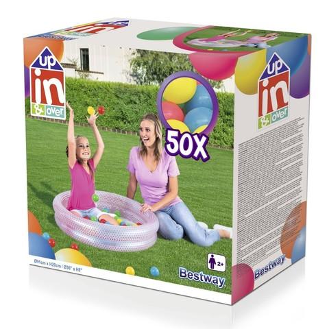 Бассейн детский надувной с мячами Play Pool,91x20см 51141