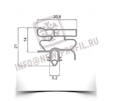Уплотнитель для холодильника  Electrolux RF 360 м.к 670*550 мм по пазу (010)