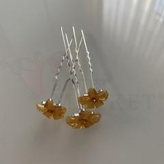 Шпилька цветок  XN-113 yel