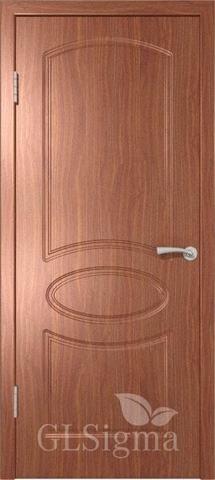 Дверь GreenLine Sigma-101, цвет итальянский орех, глухая