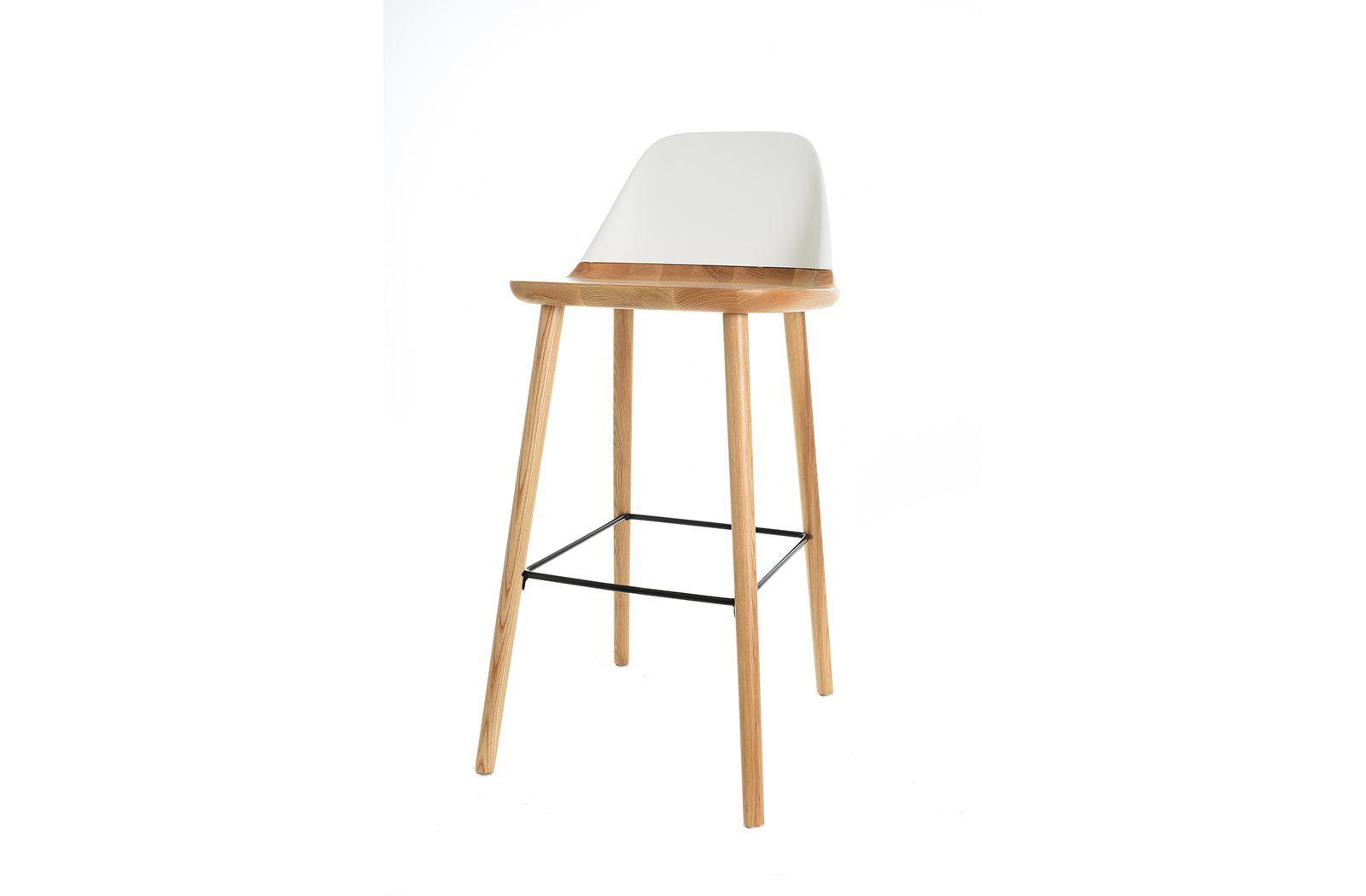 Барный стул BS-S123A белый