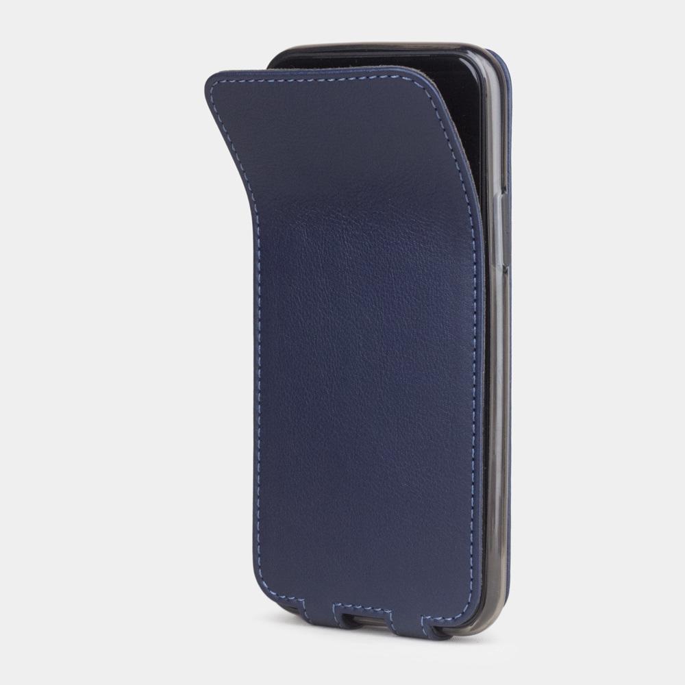 Чехол для iPhone 11 Pro из натуральной кожи теленка, цвета индиго