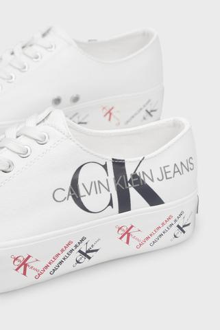Женские белые сникеры ZAMIRA Calvin Klein