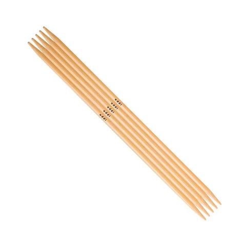 ADDI Спицы чулочные, бамбук, №3.75, 15 см. 5 шт