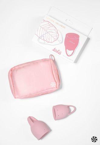 Набор из 2 розовых менструальных чаш Magnolia
