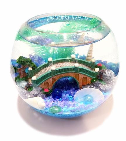Аквариум шар 5 л Волшебный мостик