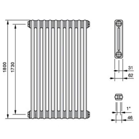 2180 Arbonia вертикальные радиаторы с боковой подводкой