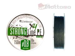 Плетеный шнур Mottomo Strong Line PE Dark Green #0.8/5kg 150m