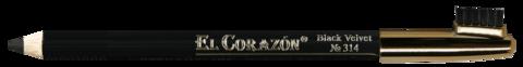 El Corazon карандаш для бровей 314 black velvet