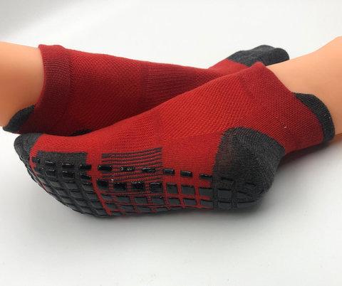 Нескользящие носки (р. 38-42, красные) - Усиленные, для йоги, батута, фитнеса