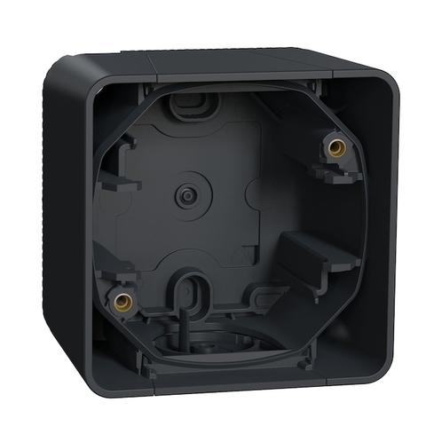 Коробка на 1 пост. Цвет Антрацит. Schneider Electric(Шнайдер электрик). Mureva styl(Мурева стайл). MUR37911