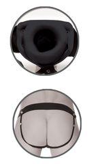 Черный полый страпон унисекс Hollow Strap-On - 14,5 см.