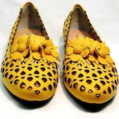 Закрытые босоножки туфли слиперы женские Phany 103-28 Yellow.