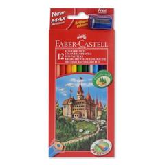 Карандаши цветные Faber-Castell Eco Замок 12 цветов шестигранные