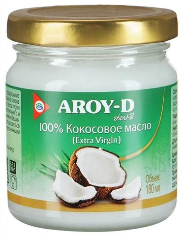 Кокосовое масло AROY-D Extra Virgin, 180 мл ст/б